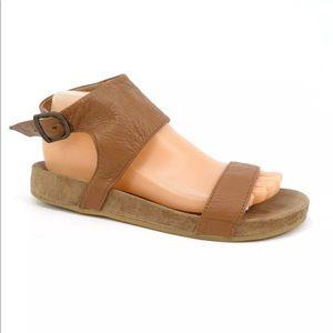 Emu Australia Brown Leather Open Toe Sandals